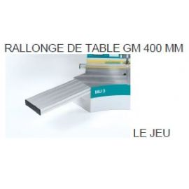 Rallonge de table GM400mm (le jeu)