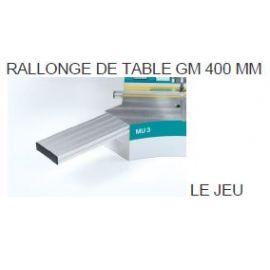 Rallonge de table GM400mm (le jeu)