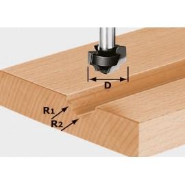 Fraise à profiler HW avec queue de 8mm HW S8 D19/R5/R4