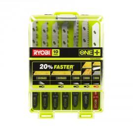 RAK10JSBWM - Coffret 10 lames spéciales scie sauteuse sans fil ONE+ bois - métal - plastique