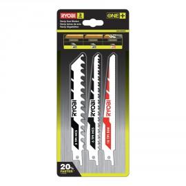 RAK3RBWM - Blister 3 lames spéciales scie sabre ONE+ & sans fil bois / métal / plastique - emmanchement universel scie sabre