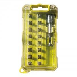 RAK17SDC - Boîte cristal 17 accessoires de vissage couleur Philips - Plat - Pozidriv - HEX - Torx sécurité