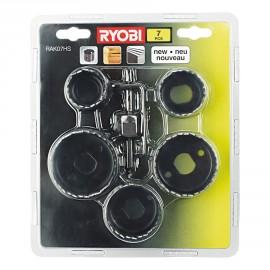 RAK07HS - Blister 7 pièces scie cloche pour le bois 32/38/45/50/54 mm + foret centreur