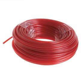 RAC104 - 15 m de fil rond Ø 2,4 mm - couleur rouge - universel, idéal pour coupe-bordures et débroussailleuses thermiques