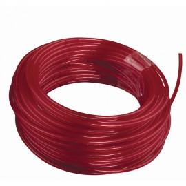 RAC134 - 25 m de fil rond Ø 2,4 mm - couleur rouge - universel, idéal pour coupe-bordures et débroussailleuses thermiques