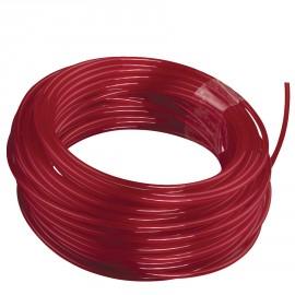 RAC105 - 50 m de fil rond Ø 2,4 mm - couleur rouge - universel, idéal pour coupe-bordures et débroussailleuses thermiques