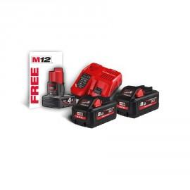 M18 HNRG-802 - Pack NRJ 18V, 8 Ah HIGH-OUTPUT Red Li-ion, système M18