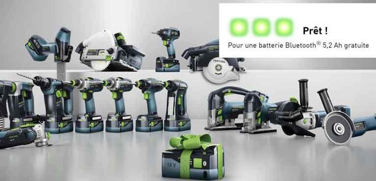 Une batterie offerte sur une sélection de machine